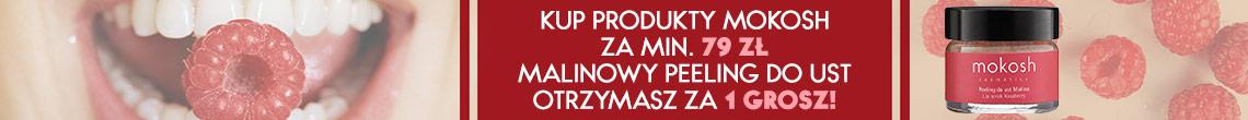 Odbierz malinowy peeling marki Mokosh za 1 grosz >>