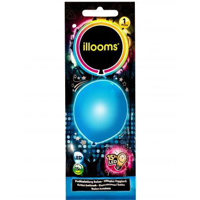 Tm Toys Balon LED 80053 niebieski