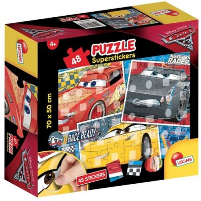 Puzzle Superstickers 48 Auta 3