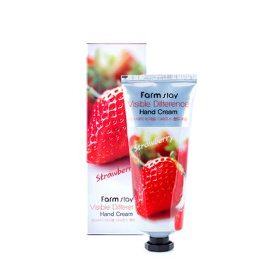 Farm Stay Vissible Difference Hand Cream krem do rąk Truskawka 100 ml