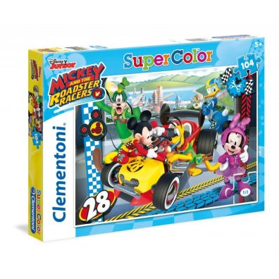 Puzzle 104 Superkolor Mickey Roadster Racers