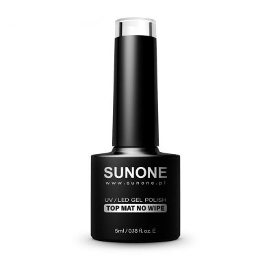 Sunone UV/LED Gel Polish Top Mat No Wipe matowy top hybrydowy bez wycierania 5 ml