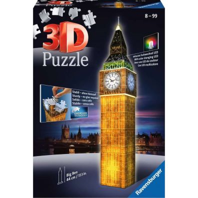Puzzle 3D Big Ben Night Edition Ravensburger
