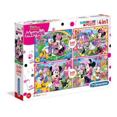Puzzle 2x20+2x60 Minnie Happy Helpers
