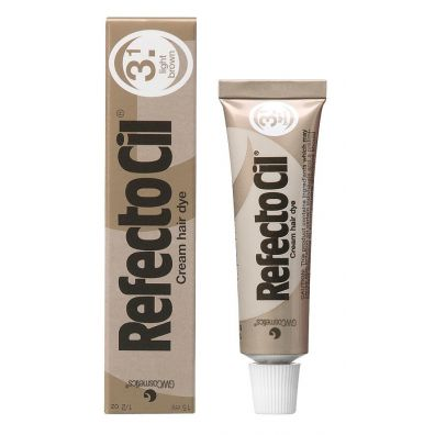 Refectocil Eyelash And Eyebrow Tint henna do brwi i rzęs 3.1 Light Brown 15 ml