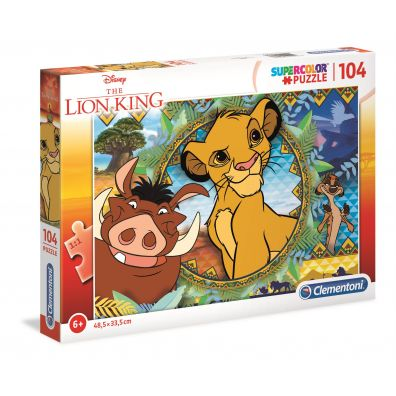Puzzle 104 Super kolor Lion king
