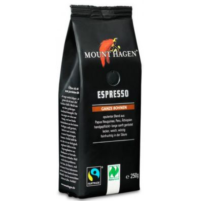 Mount Hagen Kawa ziarnista espresso fair trade 250 g Bio
