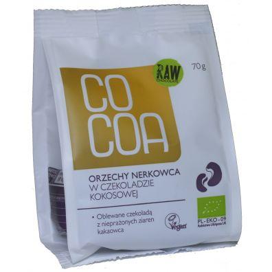 Cocoa Orzechy nerkowca w czekoladzie kokosowej 70 g Bio