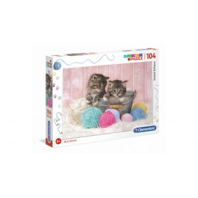 Puzzle Supercolor 104 Sweet Kittens Clementoni