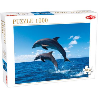 Puzzle Two Dolphins Jumping 1000