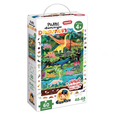 CzuCzu Puzzle obserwacyjne Dinozaury 4+ Bright Junior Media