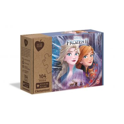 Puzzle 104 Play For Future Frozen 2 Clementoni