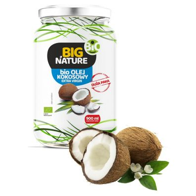 Big Nature Olej kokosowy extra virgin 900 ml Bio