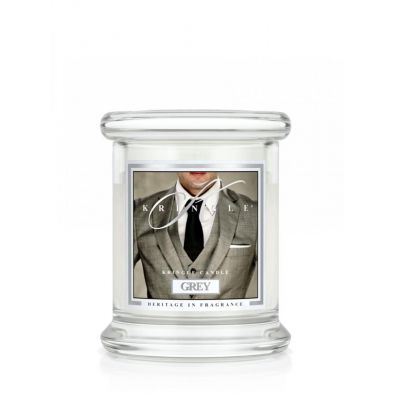 Kringle Candle Mała świeca z dwoma knotami Grey 128 g