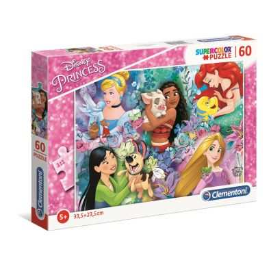Puzzle 60 Super Kolor Princess Clementoni