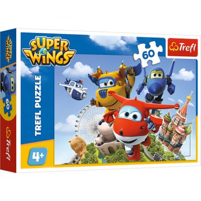 Puzzle Super Wings. Lot dookoła świata