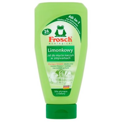 Frosch Żel do zmywarek All in One limonkowy 650 ml