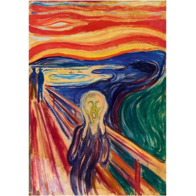 Puzzle 1000 Krzyk, Edvard Munch Bluebird Puzzle
