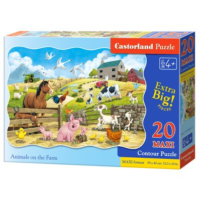 Puzzle 20 maxi - Animals on the Farm CASTOR
