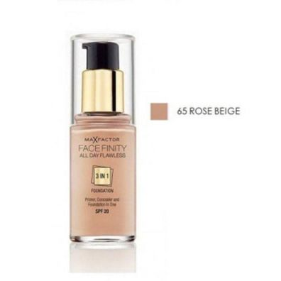 Max Factor Facefinity All Day Flawless 3in1 Foundation SPF20 podkład do twarzy 65 Rose Beige 30 ml