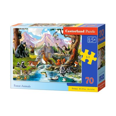 Puzzle 70 Forest Animals CASTOR