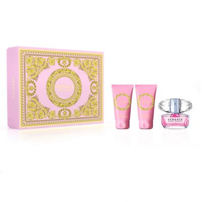 Versace Bright Crystal Woda toaletowa spray 50ml + Balsam do ciała 50ml + Żel pod prysznic 50ml