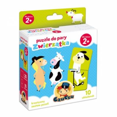 CzuCzu Puzzle do pary Zwierzątka 2+ Bright Junior Media