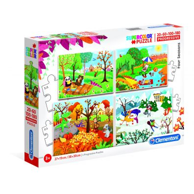 Puzzle 20+60+100+180 Super kolor 4 seasons