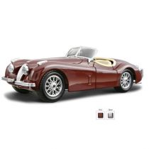 Jaguar XK 120 Roadster bordowy 1:24 BBURAGO