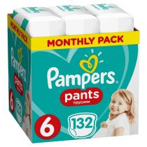 Pampers Pieluchomajtki Extra Large Pants 6 (15+ kg) Monthly Box 132 szt.
