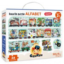 CzuCzu Duuuże Puzzle Alfabet 3+ Bright Junior Media