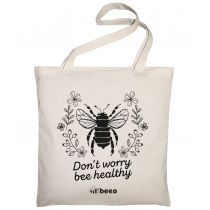 Allbag Bawełniana torba Don't worry bee healthy
