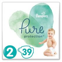 Pampers Pure Protection Pieluchy Mini 2 (4-8 kg) 39 szt.