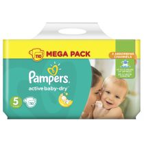 Pampers Pieluszki Junior 5 Active Baby-dry (11-18 kg) MEGA PACK 110 szt.