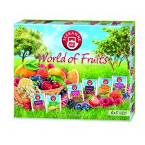 Teekanne Zestaw herbat owocowych World of fruits collection 6 x 5 szt.