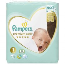 Pampers Pieluchy Newborn 1 Premium Care (2- 5 kg) 78 szt.