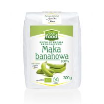 Look Food Mąka bananowa 100% 200 g Bio
