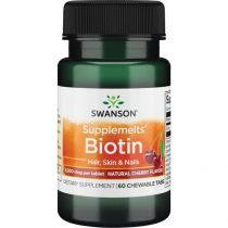 Swanson, Usa Biotyna 60 tabletek do ssania