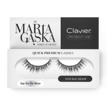 Clavier Quick Premium Lashes rzęsy na pasku Say Yes To Mess 3D SK09