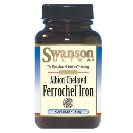 Swanson, Usa Swanson Albion Chelated Iron (Chela Ferr) 18mg 180 kaps.