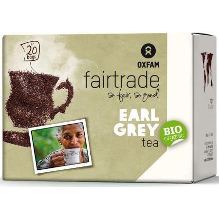 Oxfam Fair Trade Herbata ekspresowa earl grey fair trade 36 g Bio