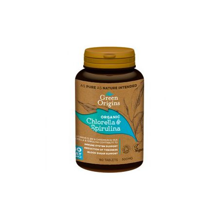Green Origins Gr chlorella&spirulina bio tabletki (180x500mg)