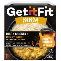 Get It Fit Ninja Ryż + kurczak + sos curry 420 g
