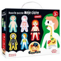 CzuCzu Duuuże Puzzle Moje Ciało 3+ Bright Junior Media