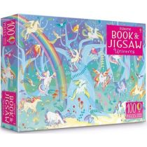 Puzzle Unicorns sticker book and jigsaw 100 Usborne