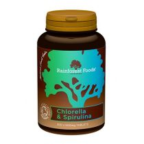 Rainforest Foods Chlorella & spirulina bio (300 tabletek x 500 mg)