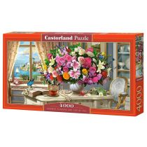 Puzzle 4000 Summer Flowers and Cup of Tea CASTOR