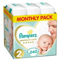 Pampers Pieluszki Mini 2 Premium Care (4-8 kg) Monthly Box 240 szt.