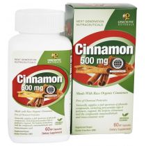 Genceutic Naturals Cinnamon 500mg organiczny cynamon suplement diety 60 szt.
