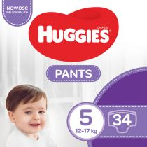 Huggies Pieluchomajtki Jumbo 5 Uni ND High PANTS (12-17 kg) 34 szt.